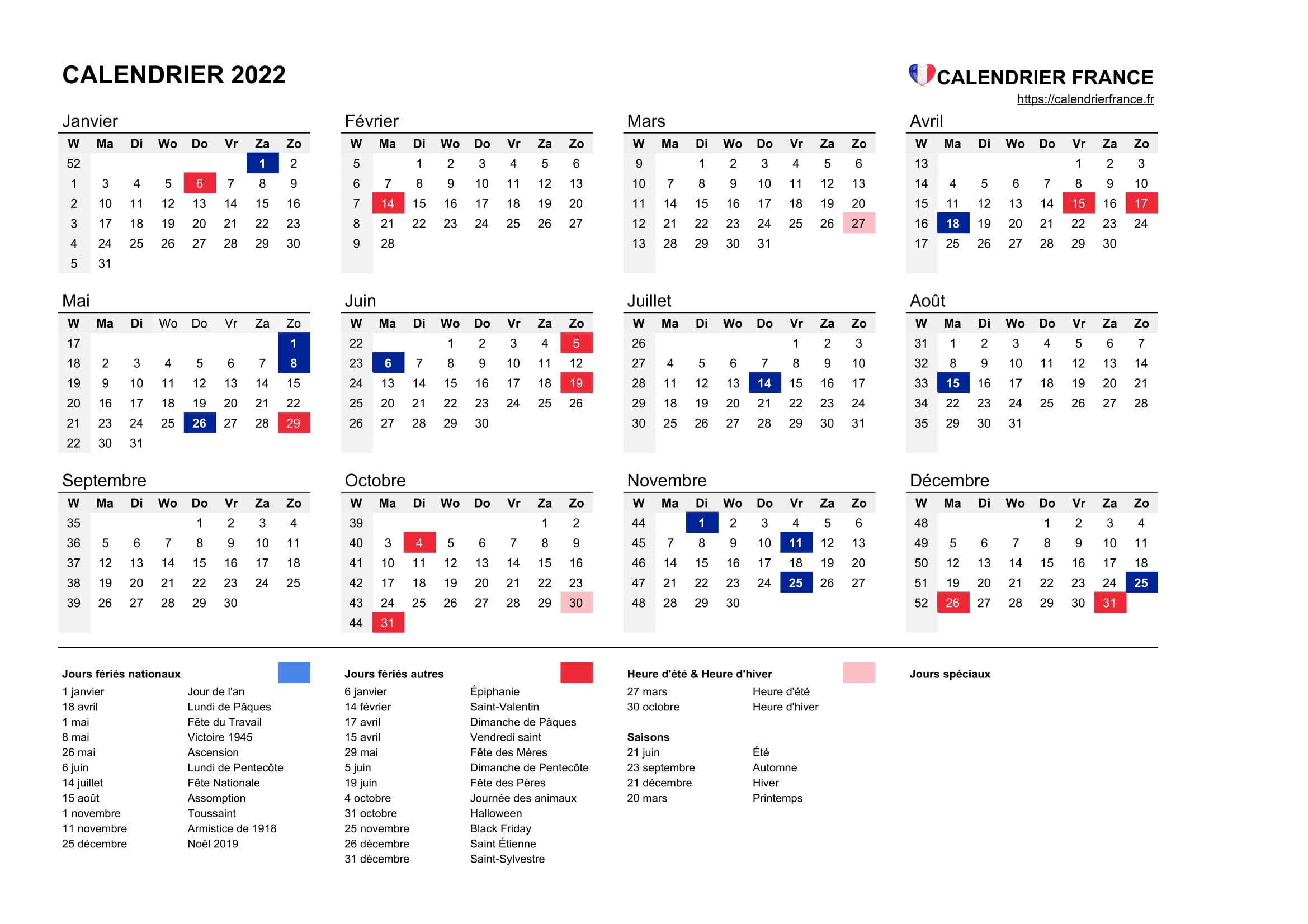 Calendrier 2022 Fete Des Meres Calendrier 2022 • Calendrier France